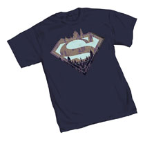 Image: Superman T-Shirt: City Symbol  (L) - Graphitti Designs
