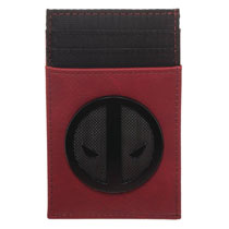 Image: Deadpool Inspired Wallet: Metal Badge  (Front Pocket) - Bioworld Merchandising