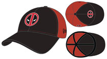 Image: Deadpool 3930 Flex Fit Cap: Black & Red 2 Tone  - New Era Cap Co