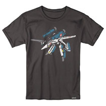 Image: Robotech T-Shirt: Minimal [Black]  (XL) - Super 7