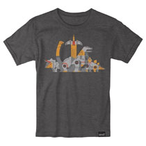 Image: Transformers T-Shirt: Dinobots [Charcoal]  (M) - Super 7