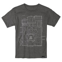 Image: Masters of the Universe T-Shirt: Greyskull Blueprint  (M) - Super 7