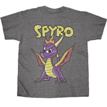 Image: Spyro T-Shirt: Hero Standing [Heather Grey]  (XL) - Changes