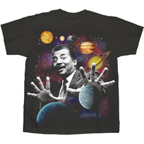 Image: Neil Degrasse Tyson T-Shirt: Planets [Black]  (XL) - Changes