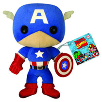 Image: Marvel Comics Plush: Captain America  (7-inch) -