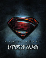 Image: Man of Steel Superman vs. Zod 1:12 Scale Statue  - DC Direct