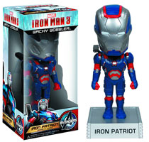 Image: Iron Man 3 Wacky Wobbler: Iron Patriot  - Marvel Heroes Collectibles & Novelties