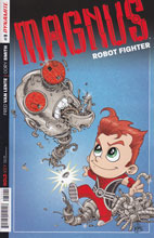 Image: Magnus: Robot Fighter #3 (75-copy incentive cover - Haeser) - Dynamite