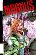 Image: Magnus: Robot Fighter #3 (100-copy incentive cover - Van Lente signed) - Dynamite
