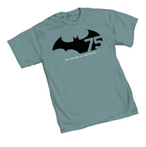 Image: Batman 75th Anniversary Logo T-Shirt  (M)