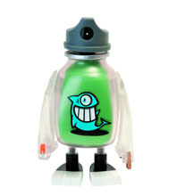 Image: Pez Bodega Vinyl Figure Green Version  -