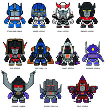 Image: The Loyal Subjects x Transformers Mini-Figure 16-Piece Blind Mystery Box Display Series 02  -