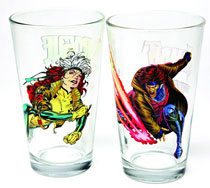 Image: Toon Tumblers Marvel Clear Pint Glass: Rogue  -