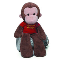 Image: Curious George Plush: Jumbo Take-Along  -