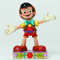 Image: Disney Traditions Pinocchio Figure: Got No Strings  -