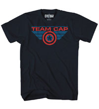 Image: Captain America 3 T-Shirt: Cap's Team [Navy]  (XXL) - Mad Engine