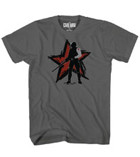 Image: Captain America 3 T-Shirt: Winter Shadow [Charcoal]  (XXL) - Mad Engine