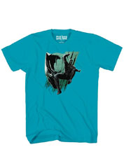 Image: Captain America 3 T-Shirt: Action Panther [Turquoise]  (L) - Mad Engine