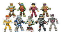 Image: Teenage Mutant Ninja Turtles Minimates Series 5 Foil Blind Mystery Box Counter Display  - Diamond Select Toys LLC