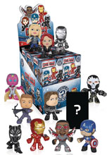 Image: Captain America 3 Civil War Mystery Minis 12-Piece Blind Mystery Box Display  - Funko