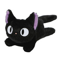 Image: Kikis Delivery Service Plush: Jiji  (Fluffy Bean Bag) - Enesco Corporation