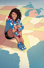 Image: America #3 (variant cover - Moore) - Marvel Comics