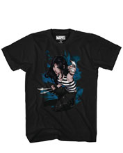Image: X23 T-Shirt: Claws Out [Black]  (XL) - Mad Engine