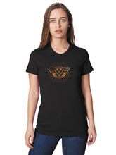 Image: Wonder Woman Women's T-Shirt: Shield  (S) - Graphitti Designs
