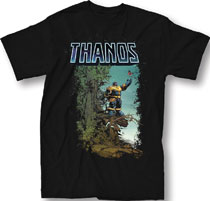Image: Marvel T-Shirt: Thanos #2 [Black]  (XL) - Mighty Fine