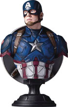 Image: Captain America: Civil War Captain America 1:6 Scale Classic Bust  - Gentle Giant Studios
