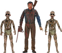Image: Ash vs. Evil Dead: Bloody Ash vs. Demon Spawn Action Figure 3-Pack  - Neca
