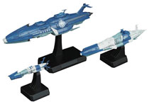 Image: Space Battleship Yamato 2202 Model Kit: Yunagi Fleet  (1/1000 scale) - Bandai Hobby