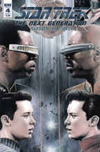 Image: Star Trek: TNG - Through the Mirror #4 (cover A - Woodward) - IDW Publishing