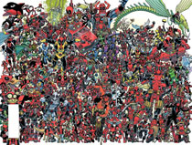 Image: Despicable Deadpool #300 (variant 300 Deadpools Wraparound cover - Koblish) - Marvel Comics