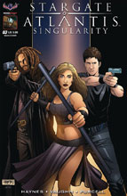 Image: Stargate Atlantis: Singularity #3 (main cover - Hilinski) - American Mythology Productions