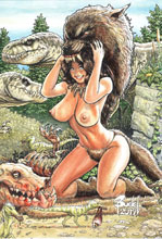 Image: Cavewoman: Lycan Run #1 (cover E - Root) - Amryl Entertainment