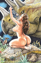 Image: Cavewoman: Raptorella's Revenge #1 (cover E - Root) - Amryl Entertainment