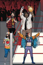 Image: WWE #17 (variant Connecting cover - Schoonover Raw) - Boom! Studios