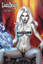 Image: Lady Death: Naughtier Limited Artbook HC  (cover B - Ebas) - Coffin Comics
