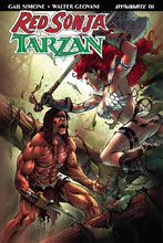 Image: Red Sonja / Tarzan #1 (cover E subscription - Davila) - Dynamite