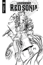 Image: Legenderry Red Sonja Vol. 02 #4 (cover B incentive - Benitez B&W) (10-copy) - Dynamite