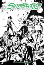 Image: Swashbucklers: The Saga Continues #2 (cover D incentive - Mutti B&W) (20-copy) - Dynamite
