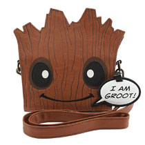 Image: Loungefly Marvel Crossbody Handbag: Groot  (Die Cut) - Loungefly