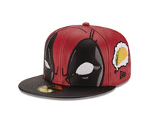 Image: Deadpool Thinking About Tacos 5950 Fitted Cap  (7 1/8) - New Era Cap Co