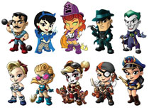 Image: DC Lil Bombshells Mini-Vinyl Figure Series 3 Blind Mystery Display  - Cryptozoic Entertainment