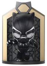 Image: Podz Show & Store Vinyl Figure: Black Panther - Black Panther  - Comicave Toys Lcc