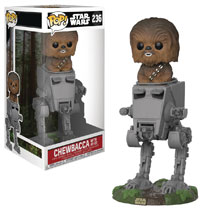 Image: Pop! Deluxe Star Wars Vinyl Figure: AT-ST  (w/Chewbacca) - Funko