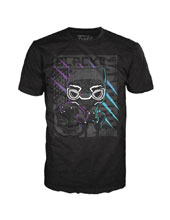 Image: Pop! Tees Marvel T-Shirt: Black Panther - Color Scratch [Black]  (XS) - Funko