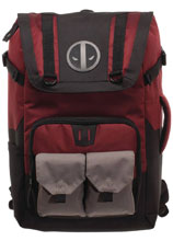 Image: Marvel Large Capacity Laptop Backpack with Pouches: Deadpool  - Bioworld Merchandising