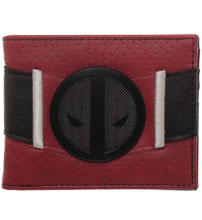 Image: Marvel Bi-Fold Wallet: Deadpool Metal Badge  - Bioworld Merchandising